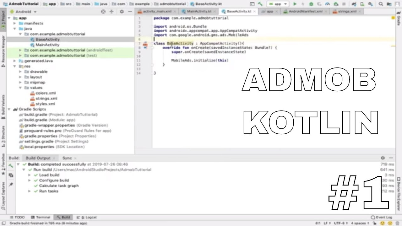 Menampilkan Iklan Admob Android Studio Kotlin #1