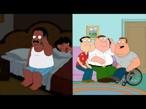 Family Guy - Peter prank calls Cleveland & Mort