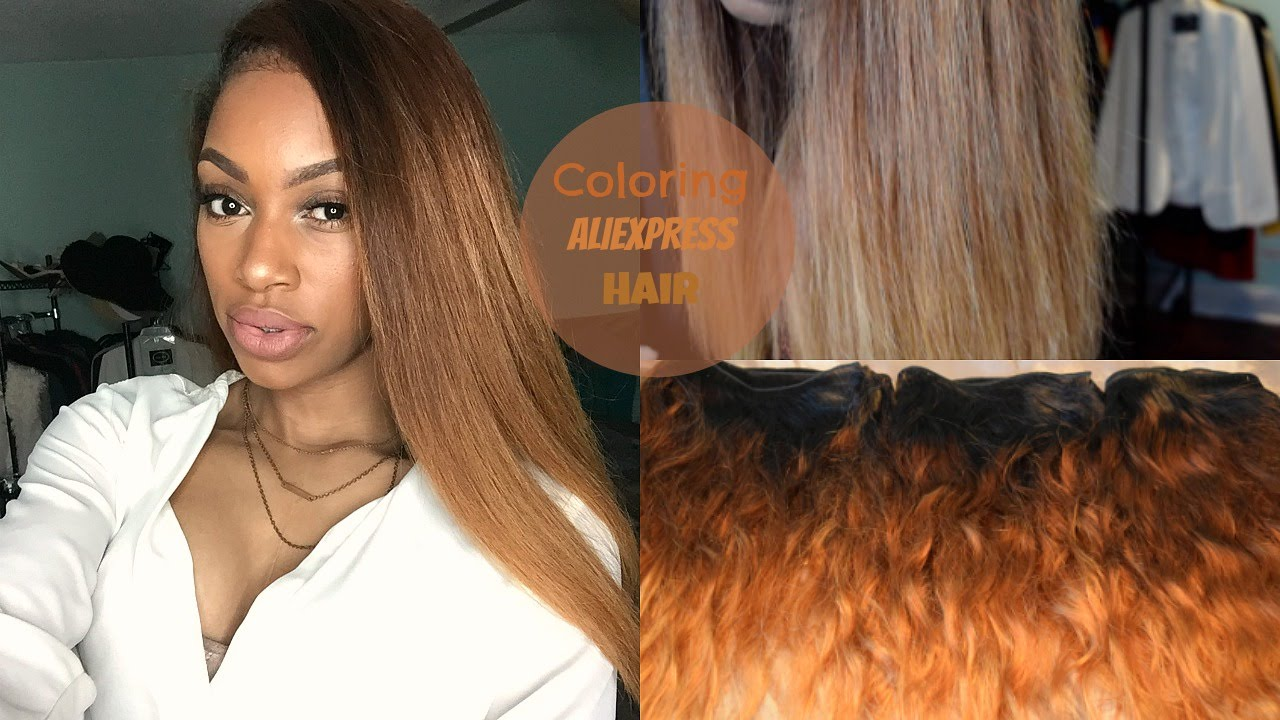 Aliexpress Hair: Coloring My Ross Pretty Hair (PART 1) - YouTube