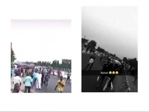 Buhari's Visit: Lagosians Trek To Their Destinations Due To Road Blocks (Watch Video)