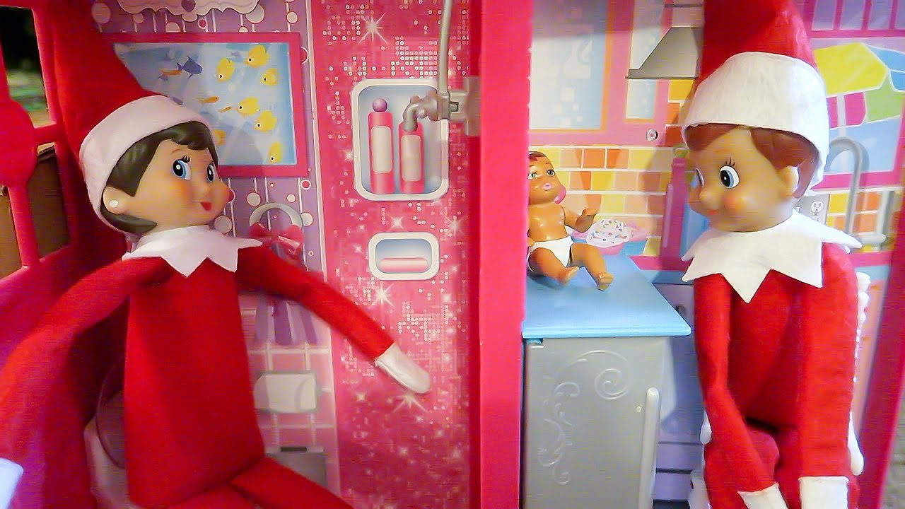 Elves Playing In Barbie House Having Elf Babies Elf On The Shelf