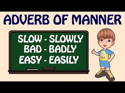 Adverb Of Manner Types Of Adverbs Basic English Grammar Lessons