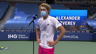 Alexander zverev's on-court interview following his semifinal victory over pablo carreno busta at the us open 2020.don't miss a moment of open! subscr...