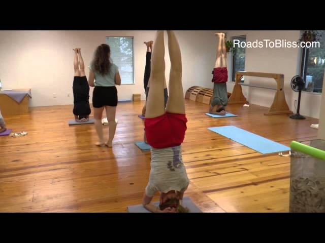 Sirsasana & variations  with Lois Steinberg, Ph.D. Certified Iyengar Yoga Teacher Advanced 2