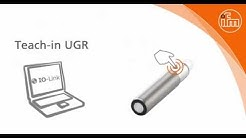 How to: Teach the UGR ultrasonic sensor on different surfaces