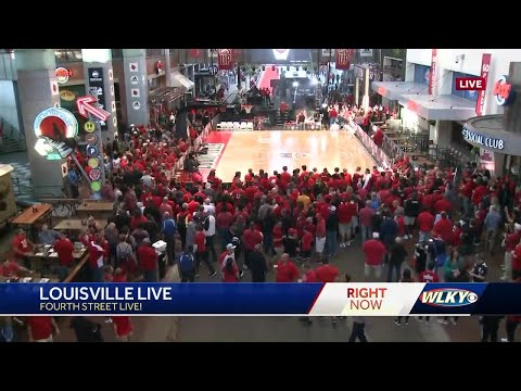 UofL basketball holds 'Louisville Live' event at Fourth Street Live!