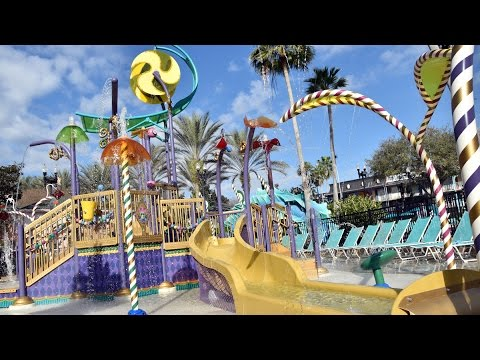 Disney's Port Orleans French Quarter NEW Water Play Area at Doubloon Lagoon; Ribbon Cutting & Tour