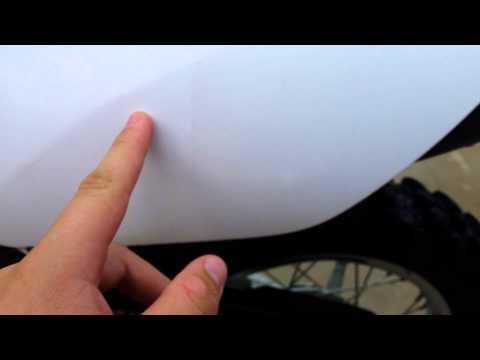 How to clean dirt bike plastic