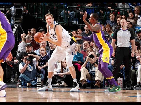 Dirk Nowitzki Scores SEASON HIGH 22 Points vs The Los Angeles Lakers
