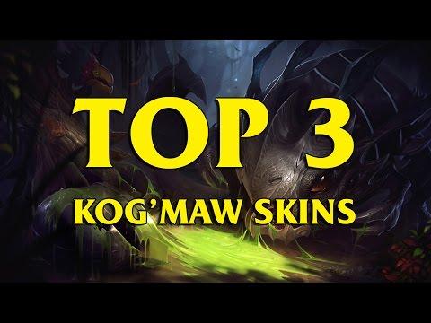TOP 3 Custom Kog'Maw Skins League Of Legends