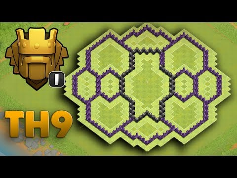 Clash Of Clans TH9 | Best Hybird Base 2017 ( TITAN BASE )