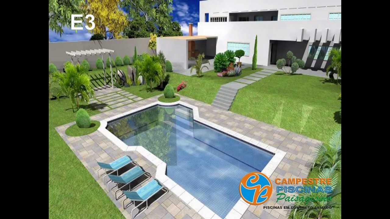 Projeto de piscina projetos personalizados campestre for Modelos de piscinas campestres
