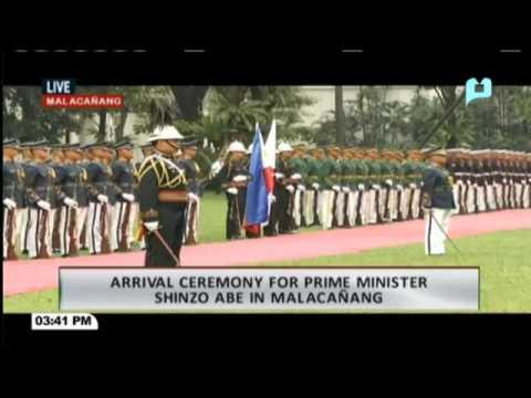 Welcome Ceremony para kay Japanese PM Shinzo Abe sa Malacañang