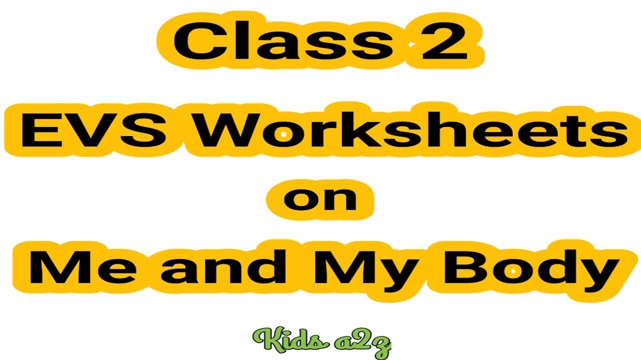 Class 2 Evs Worksheets On Me And My Body Grade 2 Evs 2nd Grade Worksheets Kids A2z Youtube