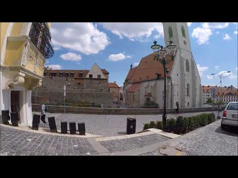 Walking in Bratislava{From the castle down in the old town}