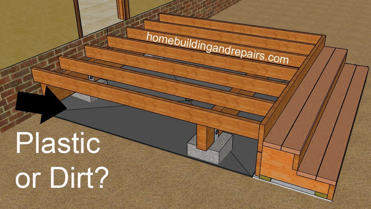 Should You Put Plastic Or Weed Screen Under Wood Decks Building Problems