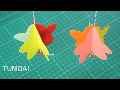 สอนทำโมบายกระดาษ รูปดาว ประดับน่ารักๆ
