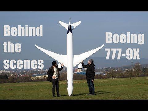 behind the scenes footage, BOEING 777-9X model airplane
