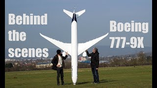 behind the scenes footage, BOEING 777-9X RC model airplane, Taxi test