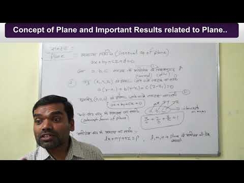 Plane II समतल II A Full Chapter Revision Class