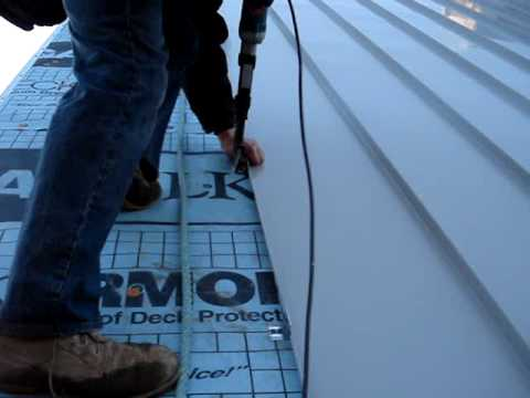 "metal roof installation""coolflatroof - youtube"