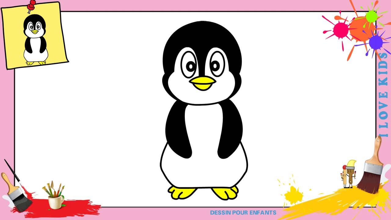 Dessin pingouin kawaii facile comment dessiner un - Pingouin a dessiner ...