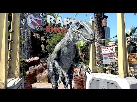 Meeting Blue from Jurassic World at Universal Studios Hollywood Raptor Encounter!