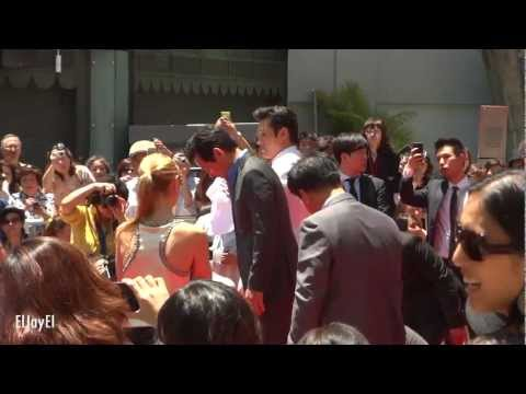 [FANCAM] 20120623 Lee Byung Hun & Ahn Sung Ki Hand & Footprint Ceremony | Grauman's Chinese Theatre