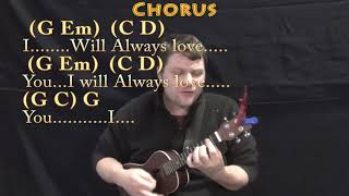 I Will Always Love You (Dolly Parton) Ukulele Cover Lesson in G with Chords/Lyrics