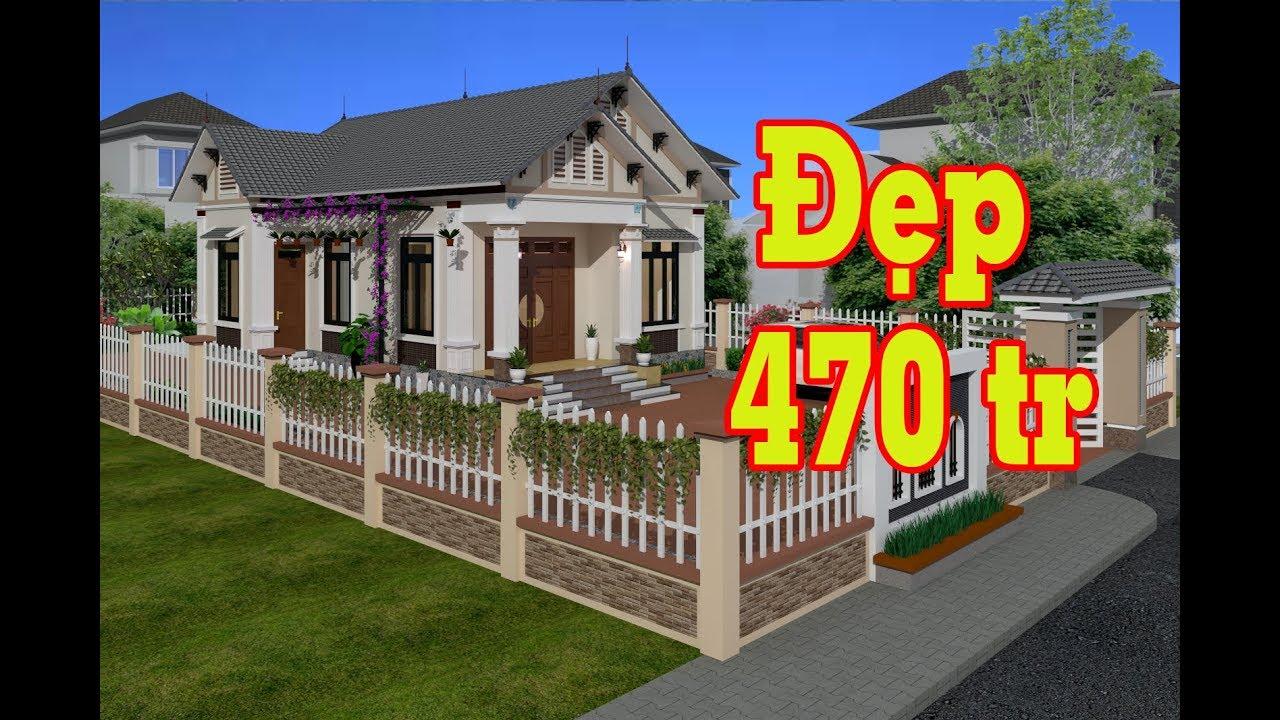 Mẫu nhà vườn mái thái Cấp 4|1 tầng|03 Phòng Ngủ