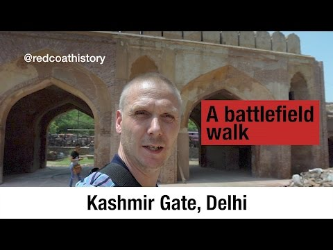 The Indian mutiny: The assault at the Kashmir Gate, Delhi.