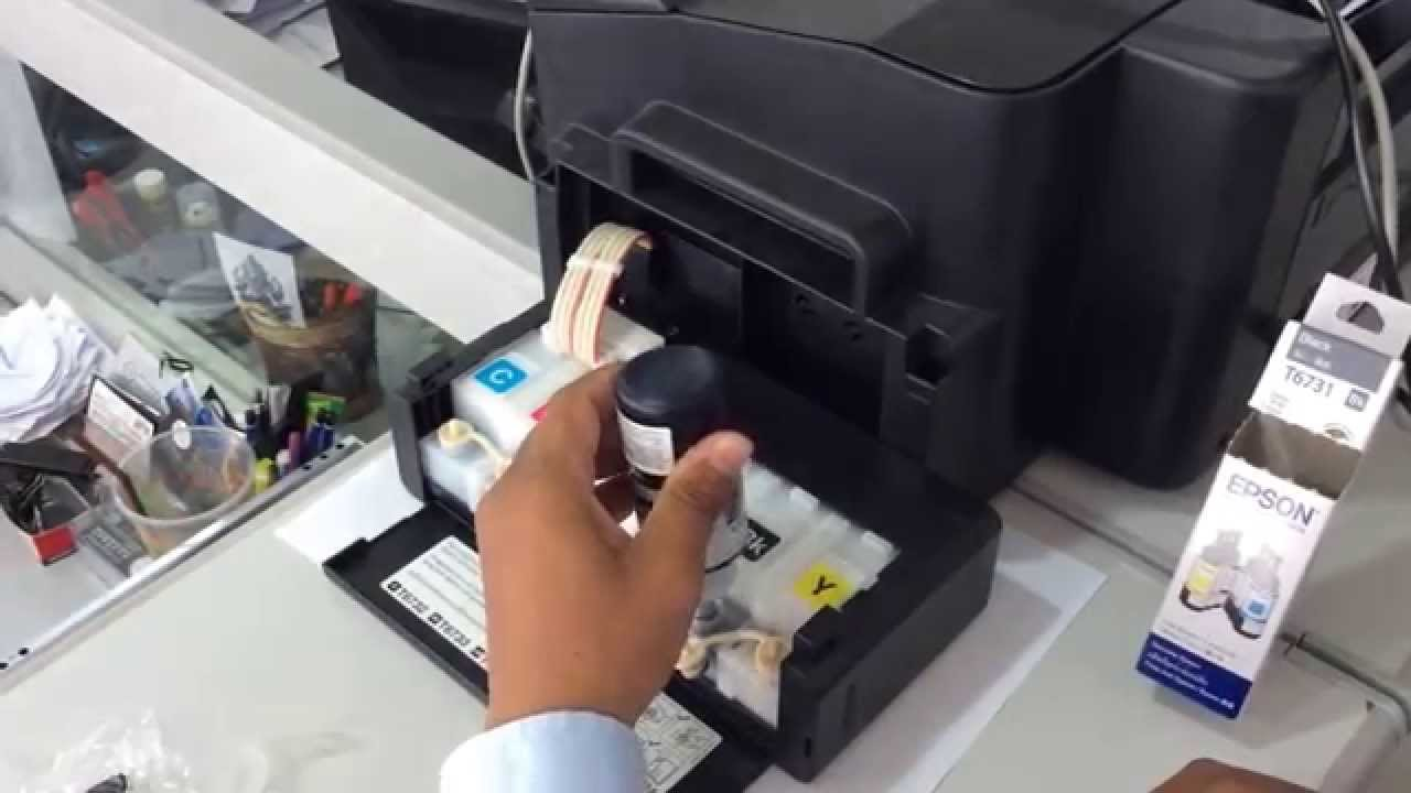 How to Refill Printer Ink Epson L1800 BL
