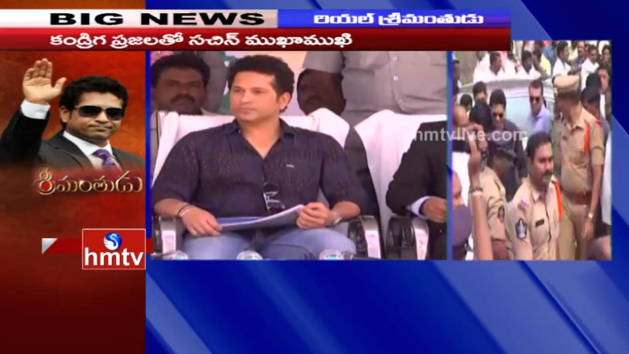 sachin tendulkar gets grand welcome in adopted village kandrika