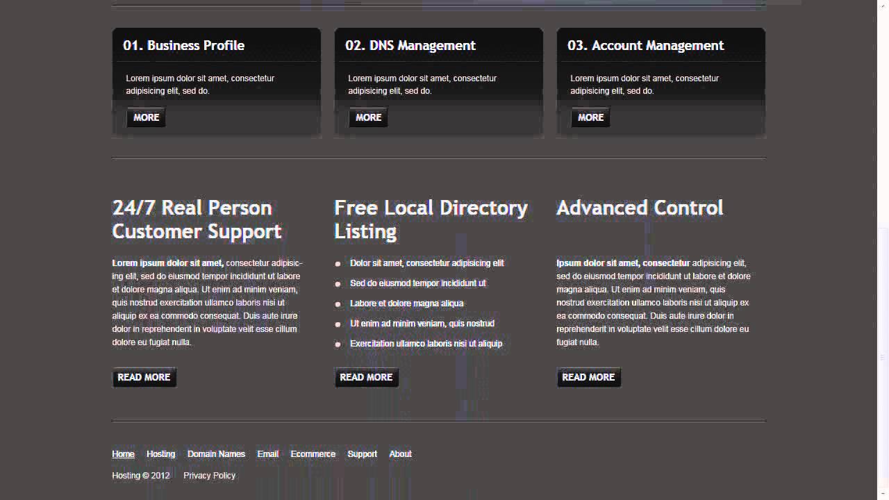 Stunning Hosting Website Template Ideas - Professional Resume ...
