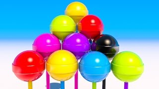 Learn Colors with 3D Lollipops Circle for Kids and Children
