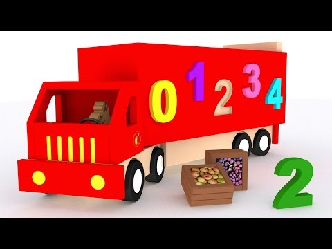 Thumbnail: Trucks for children kids. Learn numbers. Learn to count 1 to 10. Cartoon for babies