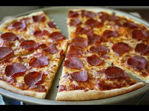 Best Pepperoni Pizza Ever! Super Crispy Crust!