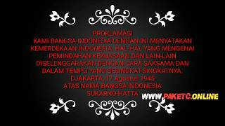 Download Video Pembacaan Teks Proklamasi MP3 3GP MP4