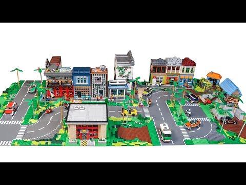 All custom LEGO CITY LAYOUT update! January 2017 - YouTube