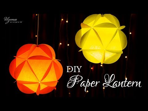 DIY Diwali Decoration Ideas | Paper Lantern | Round Paper Ball
