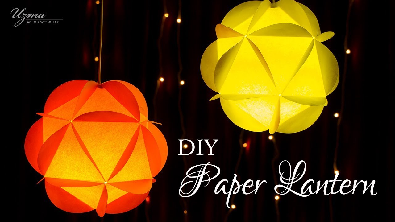DIY Diwali Decoration Ideas | Paper Lantern | Round Paper Ball ... for Diy Paper Lamp Ideas  83fiz