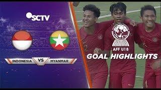 Indonesia (5) vs Myanmar (0) - Goal Highlights | Perebutan Juara 3 AFF U18 2019