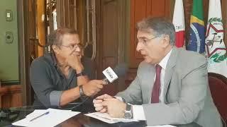 Governador de Minas Fernando Pimentel é entrevistado por Eduardo Costa