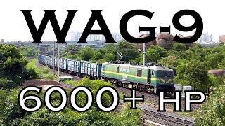 Powerful SCR WAG9 Electric LoCoMOTIVE with BOXNHL freight train !