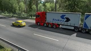 유로트럭2 냉장더블 트레일러 운송 2편