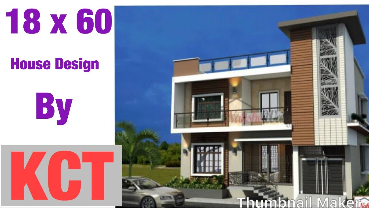 18 x 60house design 2 bhk 120 gaj with car parking and proper ventilation