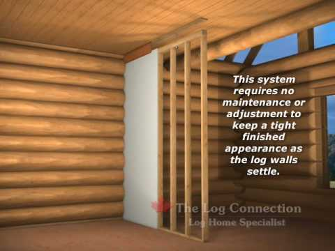 Installation Of Frame Walls In Your Log Home By The Log