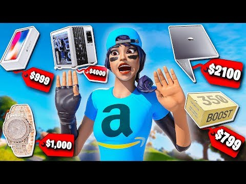 Every Death I BUY A Random Item From Amazon In Fortnite...