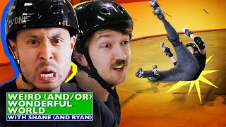 Shane & Ryan Are Bad At Roller Derby • Weird Wonderful World