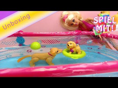 Barbie deutsch Schwimmbad - Barbie Swimming Pool mit drei Hunden Demo